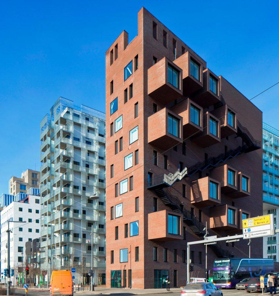 Fasaden på bygget The Wedge